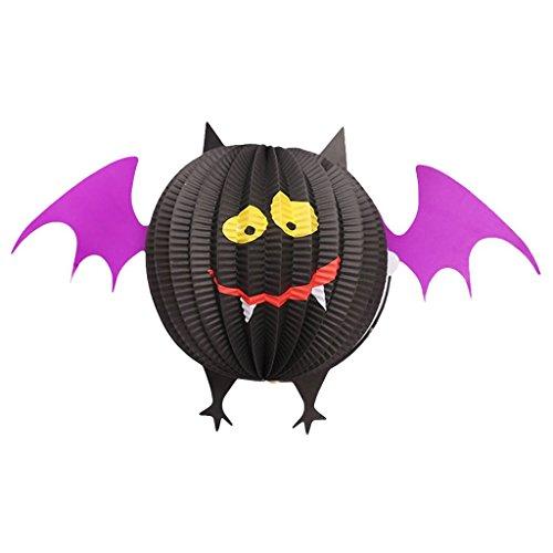 Exing Faltbare Papierlaternen Dekorationen Hängende Ornamente Halloween Spooky Supplies (NO.2) -