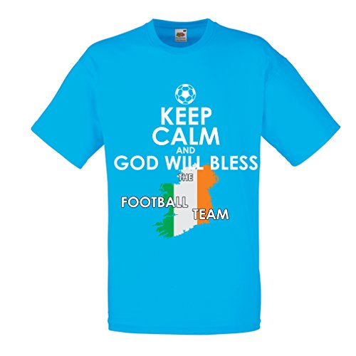United Vertical Flag (lepni.me N4490 Männer T-Shirt Keep Calm and God will Bless the Ireland national football team (X-Large Blau Mehrfarben))