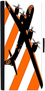Snoogg Orange Smoke Plan 2509 Graphic Snap On Hard Back Leather + Pc Flip Cov...