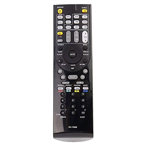 allimity Reemplazar Control Remoto RC-799M Ajustar para Onkyo AV Receiver TX-SR309 TXSR309 HT-R548 HTR548 HT-S5405 HTS5405 HT-R391 HT-R558 HTR558 HT-R590 HTR590 HT-R591 HTR591
