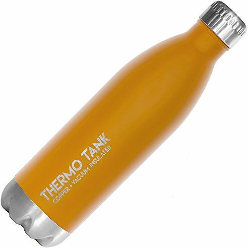 e Edelstahl-Flasche-Ice Cold 36Stunden. Vakuum + Kupfer Technologie-25Unze, Sunrise Orange ()