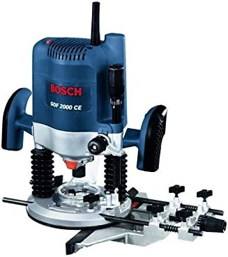 Bosch GOF 2000 CE - Power routers (6 kg) Negro, Azul, Rojo, Plata