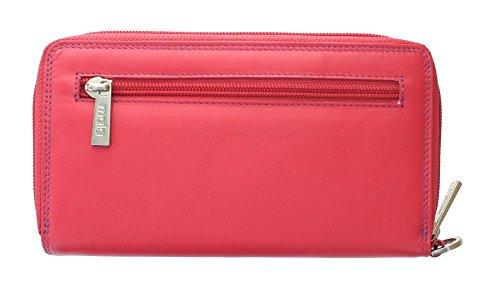 Portafoglio con Braccialetto con Protezione RFID Collezione TABITHA Mala Leather 3276_77 Blu marino Rosa