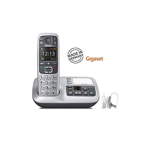 PHONE-DEX 2 - Gigaset W570A Festnetztelefon für WIDEX UNIQUE & BEYOND Hörgeräte mit integriertem Anrufbeantworter