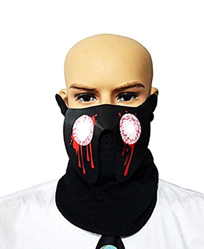 te Maske - Gesicht erleuchtet mit der Stimme Sport - Verkleidung - Cosplay (Modell 5) ()