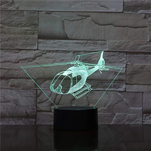 YDBDB Nachtlicht Usb 3d led md-500 530 serie zivil hubschrauber modell kämpfer dekorative lichter kriegsflugzeug flugzeug tischlampe nachttischlampe -