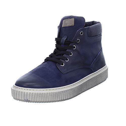 Mjus Herren Schnürer 333203 sportliche Ledersneaker Männer Halbschuhe Blau (Space/Antilope) 1760373031