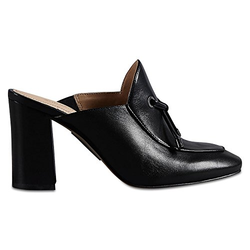 Marks & Spencer AUTOGRAPH T020229 Leather Block Heel Toggle High Mule Shoes...