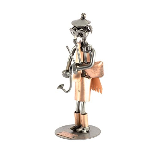 Steelman24 I Schraubenmännchen Dudelsackspieler I Made in Germany I Handarbeit I Geschenkidee I Stahlfigur I Metallfigur I Metallmännchen