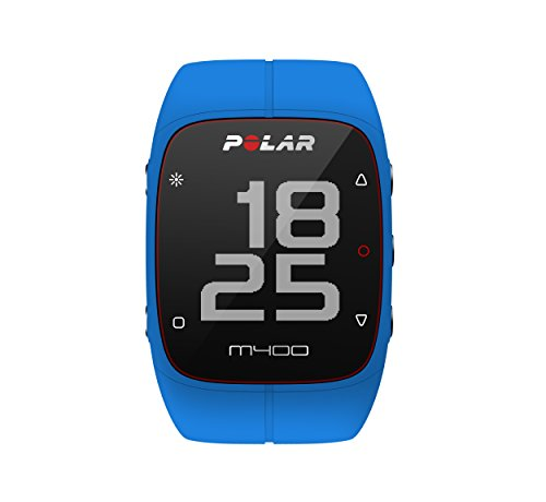 Polar M400 GPS Watch – With Heart Rate Monitor, Blue