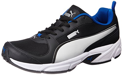 4. Puma Men's Agility IDP Puma Black, Puma Silver and Royal Blue Running Shoes