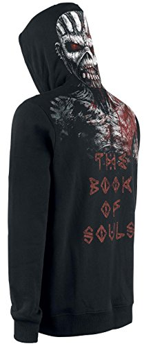 Iron Maiden The Book Of Souls Eddie Sweat à capuche noir Noir