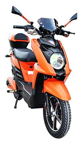 BICI BICICLETTA ELETTRICA A PEDALATA ASSISTITA E-SCOOTER MOTORE 48V 500W PIOMBO (Arancione)
