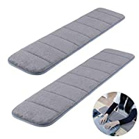 2Pcs Computer Wrist Elbow Pad, Creatiees Upgraded Wrist Rest Arm Pad(Soft, Long-Sized), Keyboard Wrist Elbow Support Mat for Office Desktop Working Gaming - Less Elbow Pain (7.9 x 31.5 inch) (Gray)
