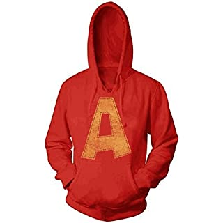 Alvin and the Chipmunks Alvin A Distressed Youth Red Hoodie Sweatshirt [Apparel]