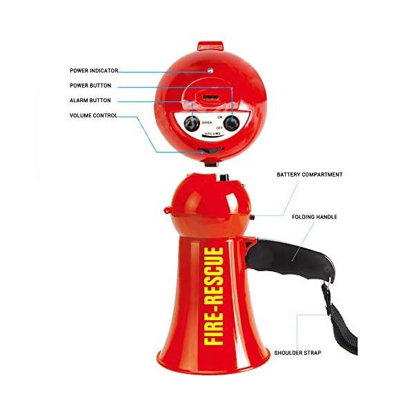 Egosy Kids Mini Speaker Simulation Pretend Kids Fire Brigade Megaphone Kids Mini Megaphone Toy para niñas niños 4