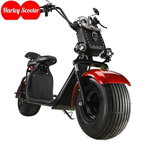 OOBY Motocicleta Eléctrica Harley Scooter para Adultos con Dos Luces Láser: Múltiples Colores para Elegir-20A.