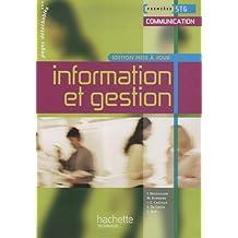Information et gestion Première STG Communication