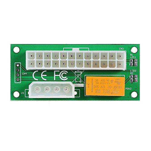 Docooler Netzteil Adapter 4Pin zu 24Pin Anschluss Starter-Relais-Adapter Hinzufügen von 2 PSU