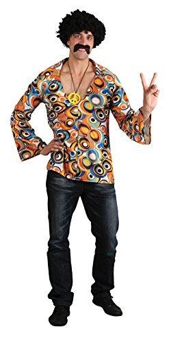 Costume da uomo camicia hippy (Taglia Medio EU 104cm)