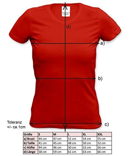 Original seit 16 Jahren Trendiges Damen-Mädchen-Fun-Sprüche-T-Shirt - Geburtstagsgeschenk Weihnachtsgeschenk - Geschenk Frauen Farbe: rot Rot