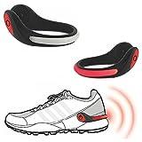 2x LED Licht Schuhclip Hochleistungs-LED´s rot Joggen,Walken,Inline-Skaten