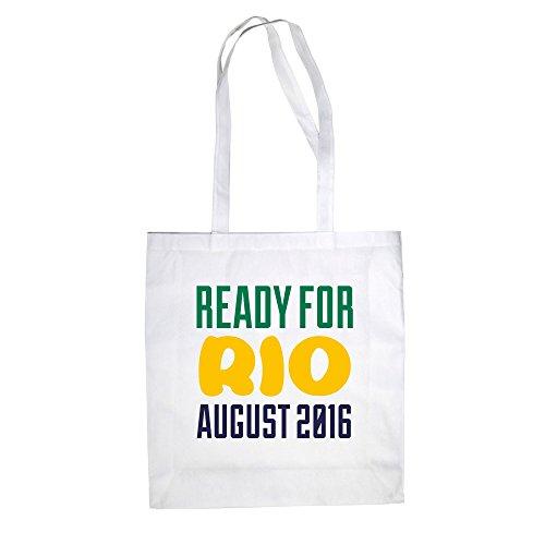 Sacchetto Di Cotone In Juta - Pronto Per Rio - Agosto 2016 - Dal Reparto Camicia Fucsia-verde Scuro