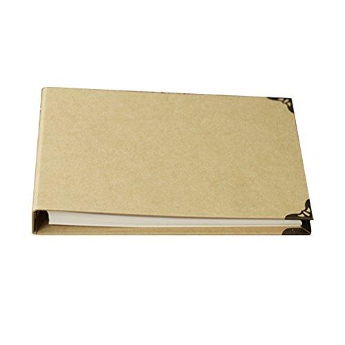 forusky 160Seiten 29x 20,5cm Kraft Hardcover Scrapbook DIY Fotoalbum, Gästebuch für Hochzeit, Jahrestag Book für Fuji Instax Mini, breit 300, breit 210Filme