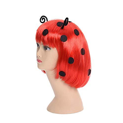 äfer rot Kurze Glatte Haare Lady Cos Göttin Marienkäfer rot ()