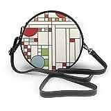 Lilyo-ltd Frank Lloyd Wright Schultertasche/Handtasche mit rundem Muster