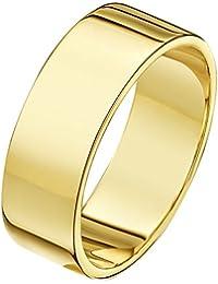 Theia Unisex Super Heavy Flat Shape Polished 18 ct Gold Wedding Ring