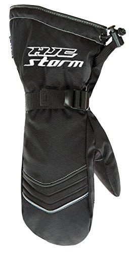 HJC Helmets Mens Cold Weather Mittens (Black, Medium) (Snow Mitt)