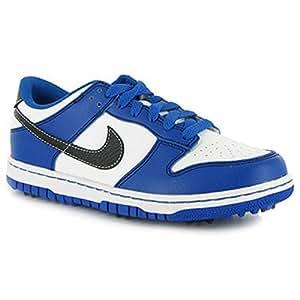 Nike Junior Dunk NG 484715 Chaussures de Golf Blanc/Bleu - 7Y