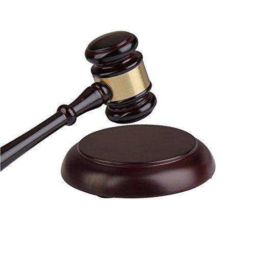 Demiawaking Hölzerner handgemachter hölzerner Hammer Klangblock für Rechtsanwalt Richter Auction Sale