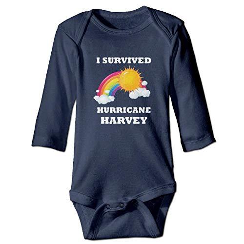 WBinHua T-Shirts für Baby-Jungen,I Survived Hurricane Harvey Sunshine Baby Unisex Long Sleeve Onesies Bodysuits -
