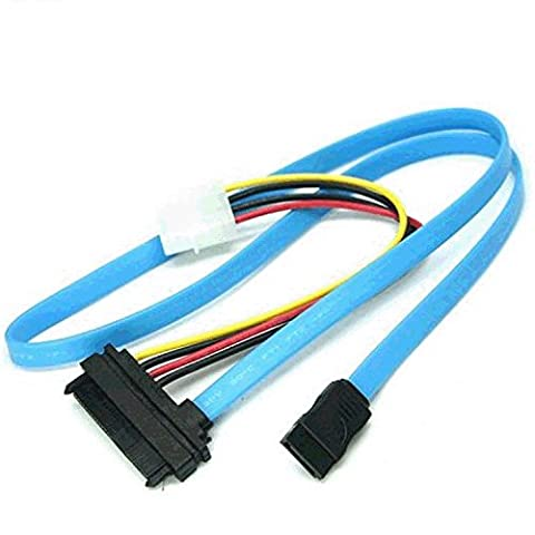 Tutoy 70cm SAS Serial Attached SCSI SFF-8482 to SATA HDD Hard Drive Adapter Cord Cable