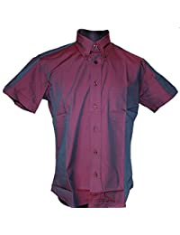 Warrior DAKAR 2Tone Burgundy Tonic Short Sleeve Shirt