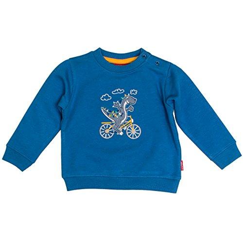SALT AND PEPPER Baby-Jungen Sweatshirt B Sweat Dino Fahrrad, Blau (Artic Blue Melange 447), 68 (Fahrräder Babys)