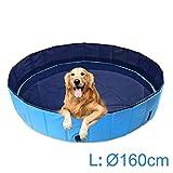 AMIGOB Hundepool Doggy Pool Swimmingpool Badewanne Pool Hundepool Ø160*30cm Schwimmbecken...