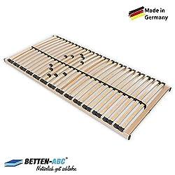Betten-ABC Lattenrost Max 1 NV zur Selbstmontage/Lattenrahmen in 90 x 200 cm mit 28 Leisten und Mittelzonenverstellung - geeignet für alle Matratzen