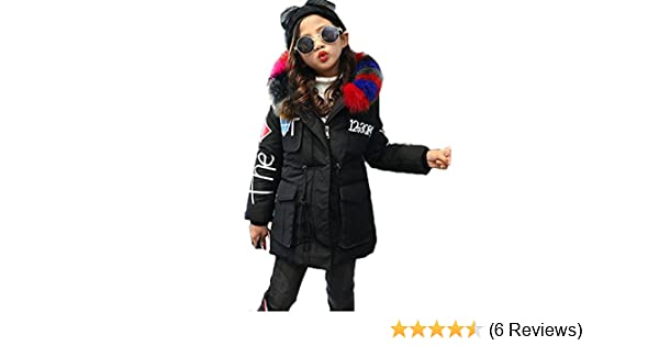 00a24aae9 MILEEO Girls Jacket Kids Fur Warm Thick Coat Jackets Age 4-12 Years ...