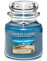 Yankee Candle Bougie en pot Turquoise Sky, bleu, Taille M