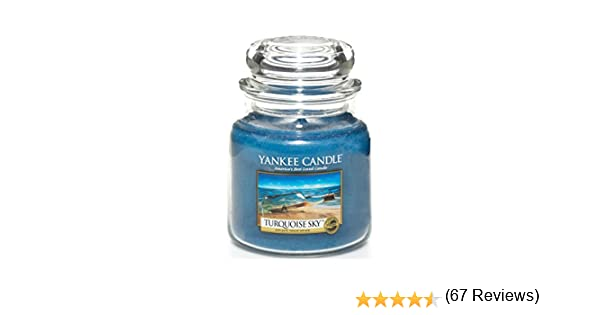 bleu Yankee Candle Bougie en pot Turquoise Sky Taille M