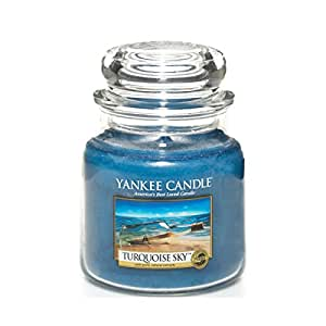 yankee candle 1254030e turquoise sky mittleres jar amazon. Black Bedroom Furniture Sets. Home Design Ideas