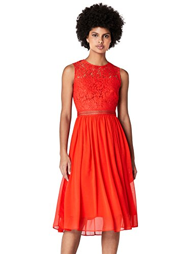 TRUTH & FABLE Women's Midi Lace Dress