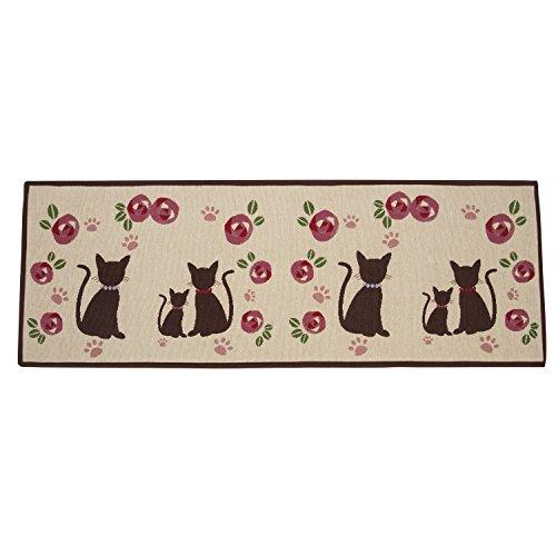 Fußmatte Karikatur Polyester Teppichmatten Gesteppt Teppich Waschbar Katze Rutschfeste Matte  50*140cm