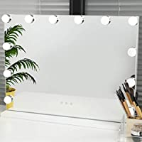 OUO Hollywood Lighted Vanity Mirror with LED Lights for Makeup Dressing Table Set with 12 Dimmable Bulbs