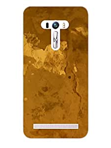 Asus Zenfone Selfie Back Cover - Yellow Paper Texture Pattern - Designer Printed Hard Shell Case