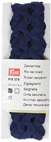 Prym RIC-rac Braid, 100Prozent Baumwolle, Navy Blau, 10mm, 3m -