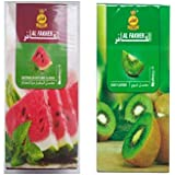 AL FAKHER Kiwi & AL FAKHER Watermelon Flavour Imported Arabian Flavour For Hookah 50 Gm Pack Of 2 Package Contents :- Pack Of 2